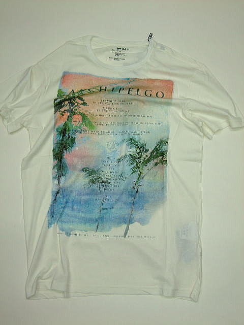 GAS T-SHIRTS Thema.SG03 Item.T-SHIRTS M/C Style No.542725 Material No.182031 STYLE NAME.SCUBA/S ARCHIPELGO Color.0745 OFF WHITE