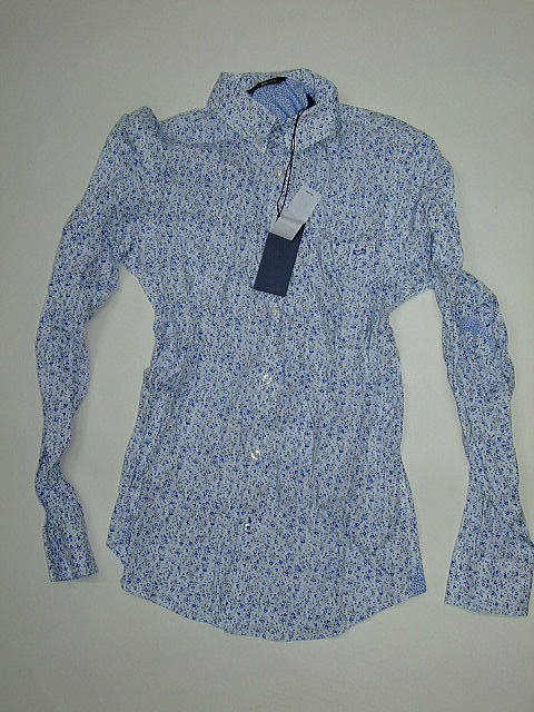 GAS SHIRTS Thema.SM04 Item.SHIRTS Style No.151034 Material No.076124 STYLE NAME.FLIX/S MINI FLOWERS STR. Color.0344 DUSK BLUE