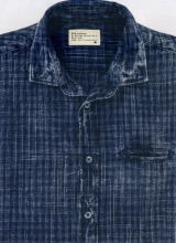 ガスデニムシャツ 83218 DENIM SHIRT SASHA/S 01 0032 LIGHT INDIGO CHECK 4 1/2 OZ WY61