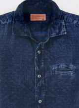 ガスデニムシャツ 83217 DENIM SHIRT SASHA/S 01 0729 DIAMOND JACQUARD 5,5 OZ WY25
